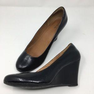 Clark's Black Wedge Heels size 11